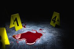 High contrast image of a crime scene royalty free stock photo