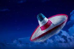 High contrast image of Mexican hat Royalty Free Stock Photos