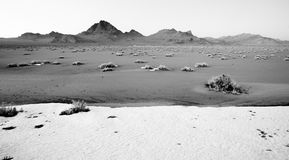 High Contrast Monochrome Black White Bonneville Salt Flats Royalty Free Stock Image