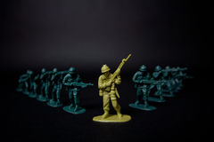 High Contrast Toy Soldiers Close up royalty free stock photography