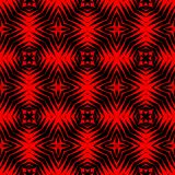 High contrasting modern regular seamless patterns in black and vivid red Stock Photo