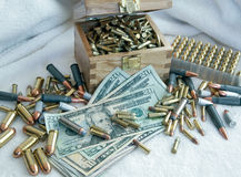 High Cost Of Ammunition Royalty Free Stock Image