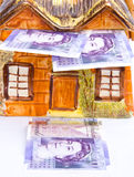 High cost of buying property: mortgages. stock photos