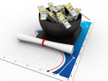 High Cost of Education Stock Images