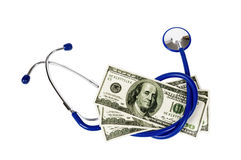 High Cost Of Health Care With Stethoscope Royalty Free Stock Photography