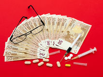 High cost of healthcare Europe - concept Stock Images