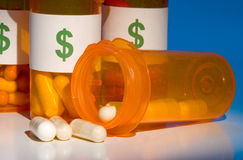High Cost of Medication Stock Images