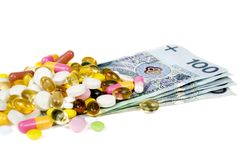 High cost of medicine Stock Photography