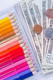 High cost of school supplies Stock Image