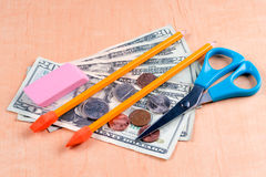 High cost of school supplies Stock Photography