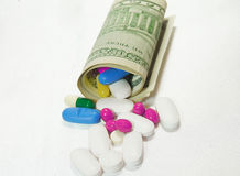 High costs of expensive medication concept Royalty Free Stock Images