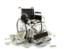 The high costs of medical care. Expenses in treatment, nursing homes, healthcare,insurance ect. concept Stock Image