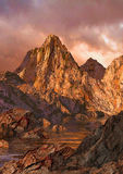 High Country Alpen Glow. Image from an original 24x34 illustration of a Sierra Nevada high country landscape. / SW-002 stock illustration