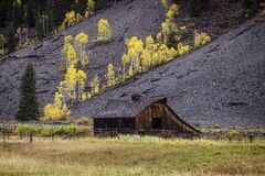High Country Barn in the Fall royalty free stock images