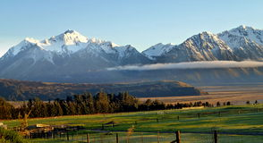 High Country Farm, New Zealand Stock Photo