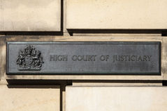 High Court of Justiciary Stock Images
