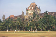 High Court and Cricket, Mumbai, India Royalty Free Stock Photography