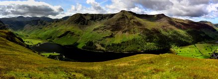 High Crag to Red Pike above Buttermere Royalty Free Stock Photography