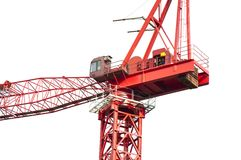 High crane close-up. Still installed in the crane close-up royalty free stock images