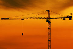 High crane at dusk Stock Photo