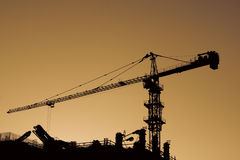 High Crane at sunset. Royalty Free Stock Photo
