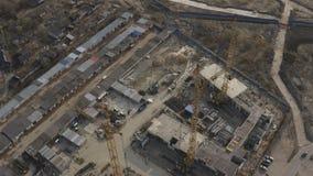 High cranes at a construction site