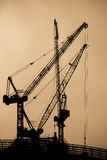 High Cranes at sunset. High Cranes and structure  at sunset Stock Images