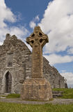 High cross. From early christian monastic site at Clonmacnoise Stock Image