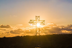 High Cross in backlight Royalty Free Stock Image