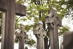 Free High Cross Of The Scriptures And Cathedral GLASNEVIN CEMETERY . DUBLIN. IRELAND Royalty Free Stock Photography - 160500177