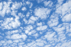 High cumulus clouds. Skyscape Royalty Free Stock Photography