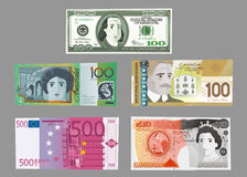 High currency notes 1 Royalty Free Stock Photography