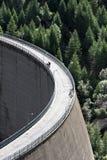 High dam, Lago di Beauregard, Val Grisenche, Italy Royalty Free Stock Photo