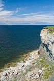 High and danger cliff coast at the Baltic sea. Paldiski, Estonia Stock Image