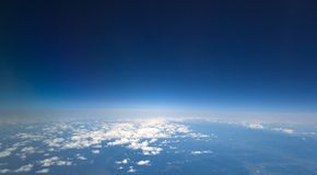High dark blue sky Royalty Free Stock Image