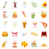 High day icons set, cartoon style. High day icons set. Cartoon set of 25 high day vector icons for web  on white background Stock Photo