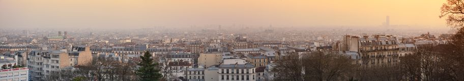 High-def view from Sacré-Coeur in Paris Royalty Free Stock Photos