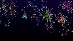 High-definition abstracte kleurrijke vuurwerkvideo, HD 1080p royalty-vrije illustratie