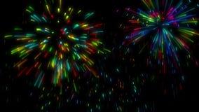 High-definition abstracte vuurwerk video 3d geeft, HD 1080p terug stock illustratie