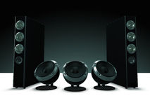 High definition audio speakers, music Royalty Free Stock Photos
