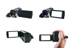 High definition camcorder set Royalty Free Stock Images