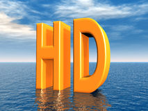 High Definition. Computer generated 3D illustration with the letters HD (High Definition Royalty Free Stock Photos