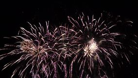 High definition fireworks display full HD