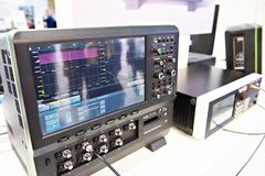 High Definition Oscilloscope. In exhibition stock photography