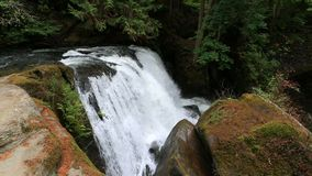 Closeup movie of Whatcom Falls in Bellingham WA with audio sound 1080p stock video footage