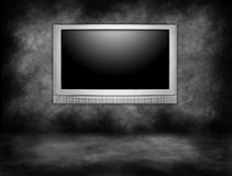 High Definition Plasma Television Hanging Stock Images