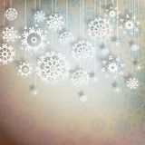 High definition snowflakes on beidge. EPS 10 Stock Image