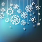 High definition snowflakes on blue Stock Photo