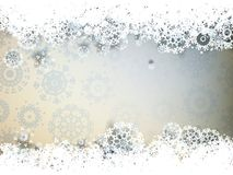 High definition snowflakes. EPS 10. High definition snowflakes on beidge background. EPS 10 Royalty Free Stock Photography