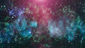 Milky way cosmic background. Star dust and pixie dust glitter space backdrop. Space stars and planet conceptual image. Stock Images